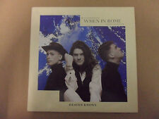 "WHEN IN ROME HEAVEN KNOWS 7"" VINYL"