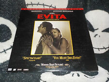 Evita Widescreen THX Laserdisc LD Madonna Free Ship $30 Orders