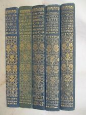 5 Everyman's Library Books William Morris  Thomas Bullfinch Medieval Romance sl