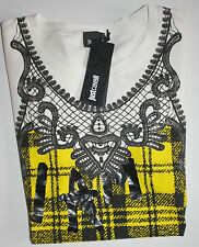 Just Cavalli Shirt Kurzarm My Own Muse White     size: L   Neu