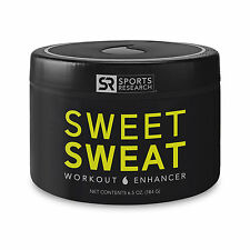 Sports Research SWEET SWEAT 6.5 oz Jar Workout Enhancer, Sweet Sweat Skin Cream