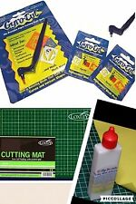 Gyrocut Set With Sticky Mat Adhesive 2 Blade Packs + A4 Cutting Mat Gyro Cut