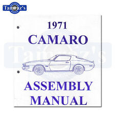 1971 Camaro Factory Assembly Manual Loose Leaf UnBound 426 Pages