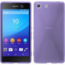 Coque en Silicone Sony Xperia M5 - X-Style pourpre + films de protection