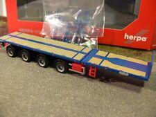 1/87 Herpa 4-Achs Nooteboom Teletrailer-Auflieger blau 076203-004