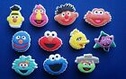NEW 11 PC SESAME STREET ELMO JIBBITZ SHOE CHARMS TOPPERS PARTY FAVORS WRISTBANDS