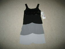 "NEW ""SCALLOPED RUMBA BLACK"" Dress Girls Clothes 7 Spring Summer Boutique Kids"