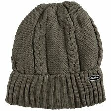 Pia Rossini Ladies Winter Hat Knitted Wolly Thermal Khaki Green Knit Ski Womans