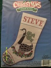 "Good Shepherd ""Canadian Goose Stocking"" Cross Stitch Kit Size 16"""
