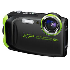 Fuji FinePix XP80 Waterproof 16 Megapixel Digital Camera WiFi Black / Green