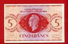 (Ref: CCOM.1) 5 FRANCS CAISSE CENTRALE DE LA FRANCE D'OUTRE MER 1ere  EMISSION