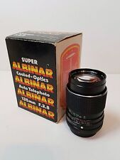 Vintage Super Albinar 135mm F.2.8 Auto Telephoto Coated Optics 2.8 Lens Canon AE