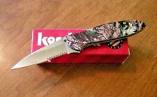 KERSHAW New Ken Onion Design Camo Handle Leek Part Serrated Blade Knife/Knives