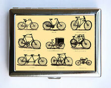 Victorian Bikes Cigarette Case Wallet Business Card Holder steampunk bicycles