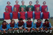 WEST HAM UNITED FOOTBALL TEAM PHOTO 1971-72 SEASON
