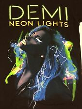 Demi Lovato Neon Lights 2014 Tour Black 2 Sided T-Shirt Pop Music Concert Band