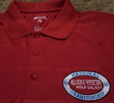 NEW Mens PGA Golf Channel AM Tour Galaxy 2012 Championship Polo Shirt Large NWOT