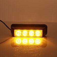 17 Mode LED 4led 4W Flash Warning Strobe Emergency Light Grille Lamp Car Vehicle