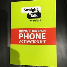 Straight Talk -AT&T Nano SIM card for unlocked GSM Phones