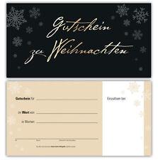 100 Gutscheine Gutscheinkarten Geschenkgutscheine edel neutral Weihnachten