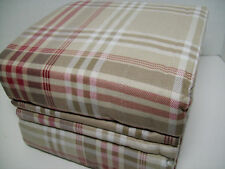 Cuddl Duds Heavyweight Cotton Red Khaki Brown Plaid Flannel Queen Sheet Set New