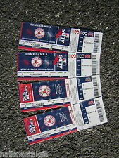2013 Wild Card & ALDS Unused Mint Tickets to Fenway Park for Never Played Games