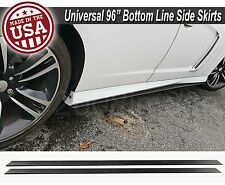 "96""x6"" Gen 1 Black Side Skirts Extension Flat Bottom Line Lip For  Mitsubishi"