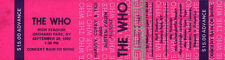 THE WHO REPRO 1982 RICH STADIUM NEW YORK 26 SEPTEMBER CONCERT TICKET .NOT CD DVD