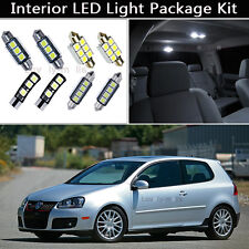 10PCS Canbus LED Interior Lights Package kit Fit 2003-2009 VW MK5 GOLF GTI J1