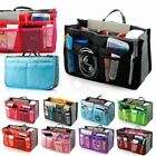 Lady Women Insert Handbag Organiser Purse Large liner Organizer Bag Tidy Travel~