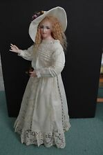 Gillie Charlson UK Artist Wax over Porcelain Artist Doll Estelle # 4/10 with COA