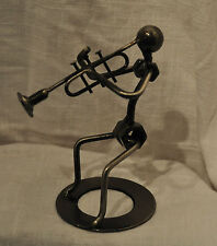 Trumpet Player Metal Nuts and Bolts Musician Figurine Music Gift