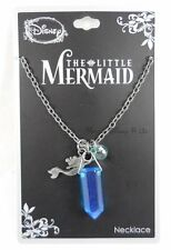 New Disney The Little Mermaid Ariel Droozy Druzy Stone Pendant Charms Necklace