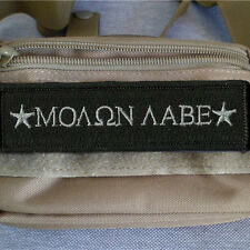 Star & MOLON LABE Military Tactical Patch Tape Army Combat Morale Badge Black
