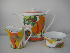 WEDGWOOD CLARICE CLIFF COFFEE SET CORNWALL POT WINDBELLS JUG SECRETS BOWL LTD ED