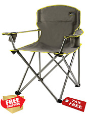 Folding Camp Chair Outdoor Portable Beach Seat 500LBS Oversized Heavy Duty Cup