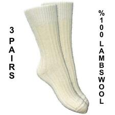 MENS %100 PURE KNITTED LAMBS WOOL THERMAL WARM SOCKS (3 PAIRS) UK7-10