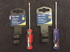 "Allied, Screwdriver Set, Pocket Clip, #0 x 3"" Phillips & 1/8"" x 3"" Flat Blade"