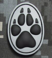 3D PVC K9 DOG TRACKER PAW USA ARMY MORALE BADGE SWAT ACU VELCRO® BRAND PATCH