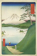 3 reproduction estampe japonaise Mont Fuji neige scènes photos tirages views