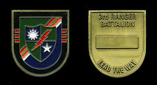 Challenge Coin - US Army 3/75 RGR - 3rd Bn 75th Rangers - flash shaped