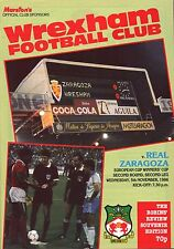 1986/87 Wrexham v Real Zaragoza, ECWC, PERFECT CONDITION