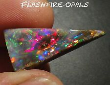 13,5ct. GEM BOULDER OPAL BRILLIANZ 5 ROT/MAGENTA ! VIDEO FLASHFIRE-OPALS
