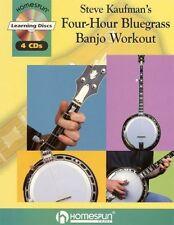 Steve Kaufman 4 Hour Bluegrass Banjo Workout Book 4 Cd Set NEW!