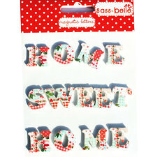 Accessory for memo board Patchwork PATTERN MAGNETIC LETTERS - HOME SWEET HOME