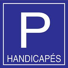 """Panneau parking """"handicapés"""""""