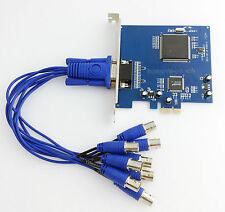 8CH PCI-E CCTV DVR Card 8CH 240FPS Real Time D1 DVR Card Support Window 7 64bit