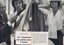 Coupure de presse Clipping 1958 Sophia Loren (2 pages)