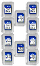 2GB SD Flash Memory Cards - 10 Pack for Digital Cameras Trail Cameras +