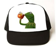 KERMIT THE FROG But Thats None of My Business Meme Trucker Cap Hat Lipton tea